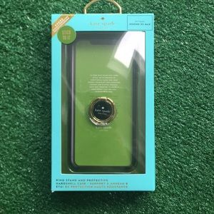 NWT kate spade iPhone XS Max case ring stand